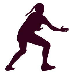 Girl handball sport silhouette