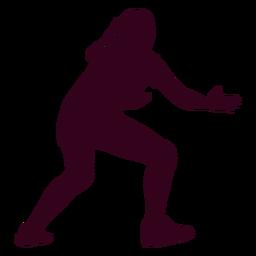 Mädchenhandball-Sportschattenbild