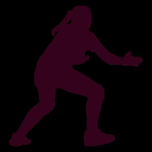 Silueta de deporte de balonmano chica Transparent PNG