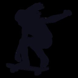 Chica patinadora silueta patinadora