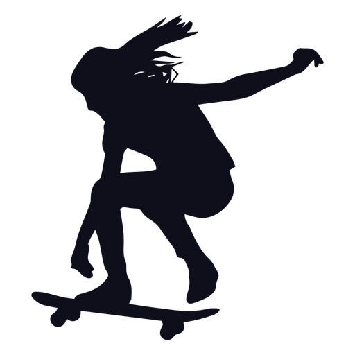 Chica patinadora silueta patinadora Transparent PNG