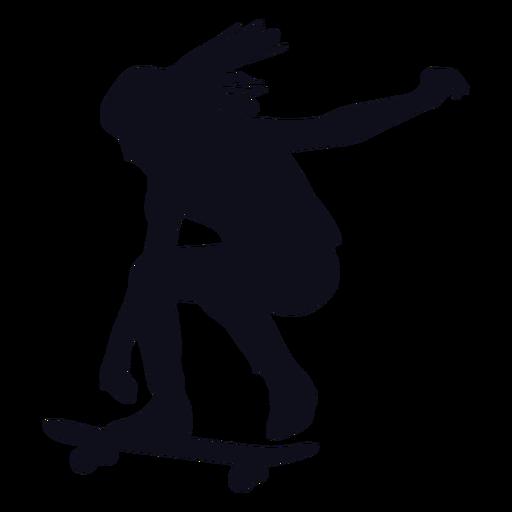 Patinadora de silueta de niña patinadora