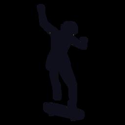 Trucos de niña silueta de patinaje