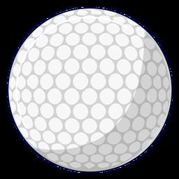 Ilustração da bola de golfe