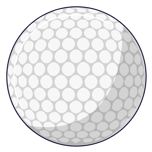 Ilustração da bola de golfe Transparent PNG