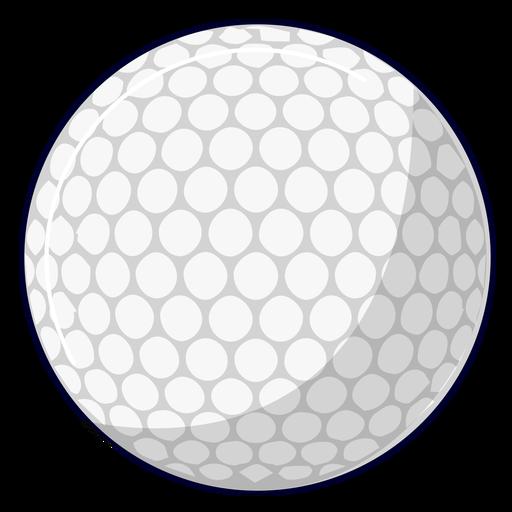 Ilustración de pelota de golf Transparent PNG