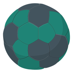 Green handball illustration