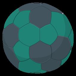 Ilustración de balonmano verde