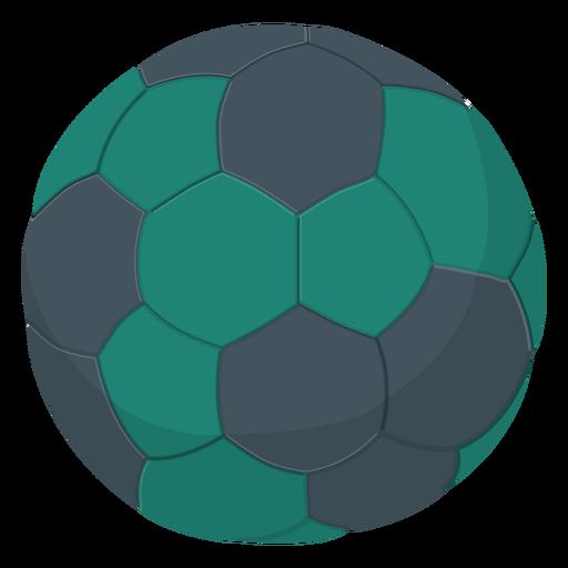 Green handball illustration