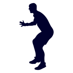 Guy handball player people silhouette