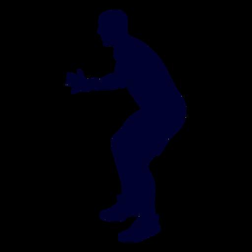 Guy handball player people silhouette