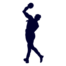 Guy handball silhouette