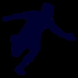 Silhueta de esporte de handebol de cara