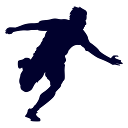 Silueta de deporte de balonmano chico