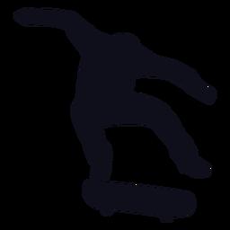 Silhueta de salto de skatista de cara