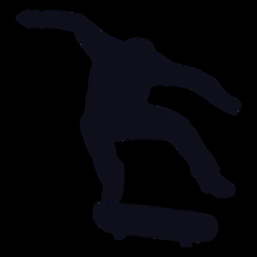 Silueta de salto chico patinador