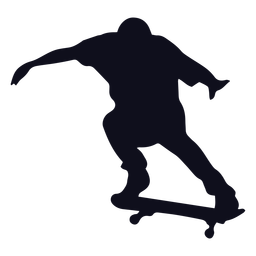 Guy skater silhouette skater