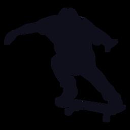 Skatista de silhueta skatista de cara