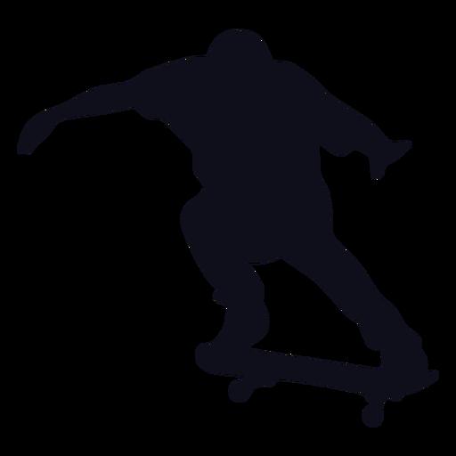 Chico patinador silueta patinador
