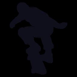 Guy skater tricks silhouette