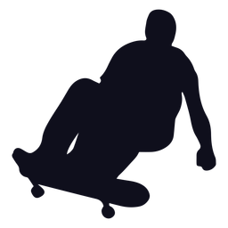 Guy skating jump silhouette
