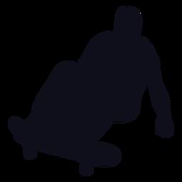 Silueta de salto de patinaje de chico