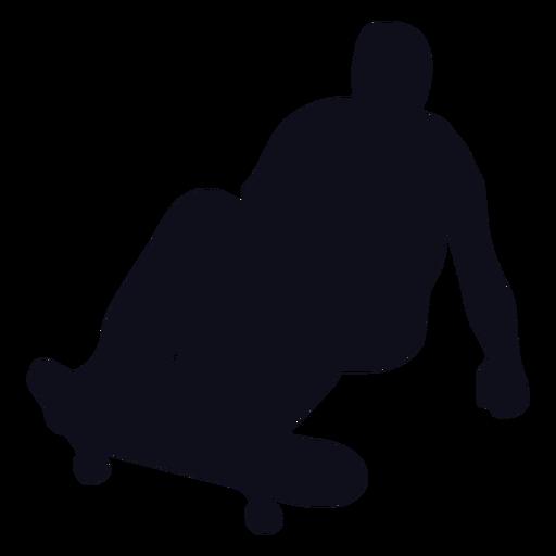 Chico patinando silueta de salto