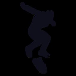 Patinaje de silueta de chico patinaje