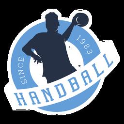 Distintivo de jogador de handebol