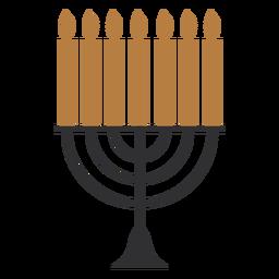 Menorá plana de Hanukkah