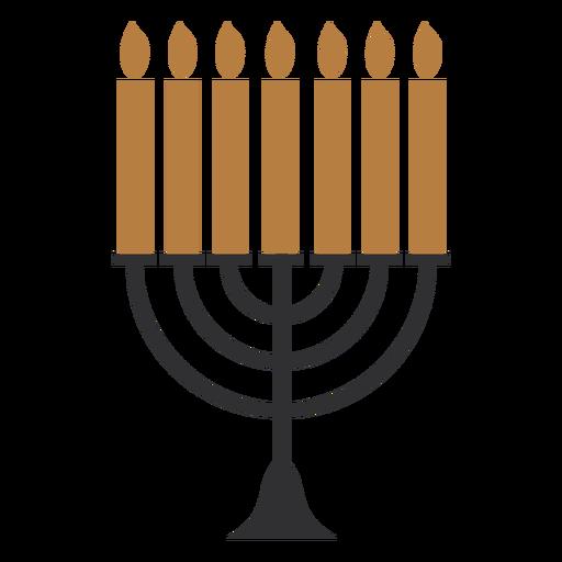 Menorah plana de Hanukkah Transparent PNG