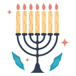 Hanukkah menorah illustration