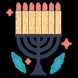 Ilustração da menorá de Hanukkah