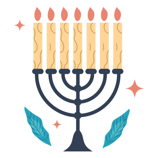 Ilustración de la menorá de Hanukkah Transparent PNG