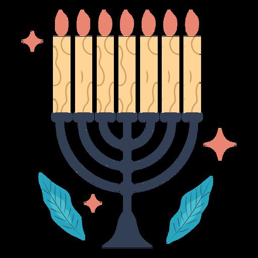 Ilustración de la menorá de Hanukkah