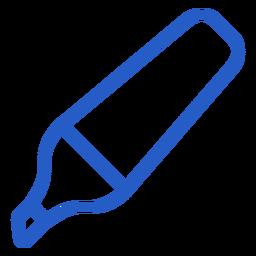 Icono de trazo de lápiz resaltador