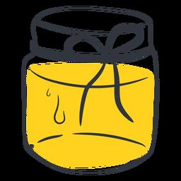 Dibujado a mano miel