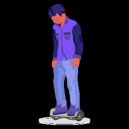Carácter plano hoverboard