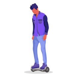 Hoverboard flat character
