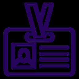 Id card stroke icon