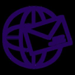 Icono de trazo de correo electrónico de Internet