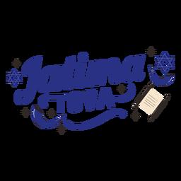 Jatima tova lettering