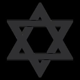 Judío estrella de david stroke