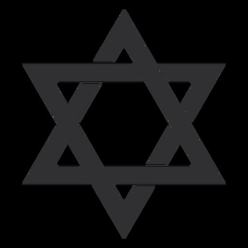 Estrella judía de david golpe Transparent PNG