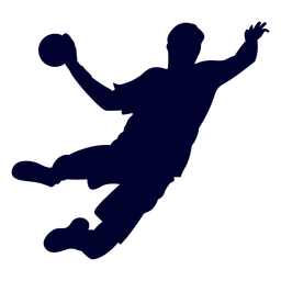 Jumping guy handball player people silhouette