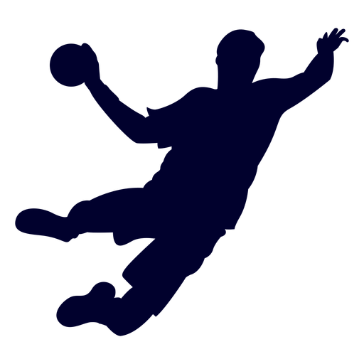 Jumping guy handball player people silhouette