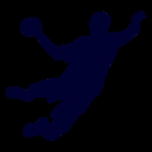 Salto chico balonmano jugador personas silueta