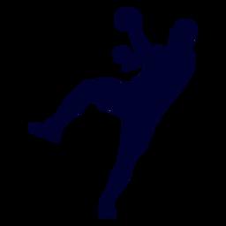 Salto hombre jugador de balonmano personas silueta