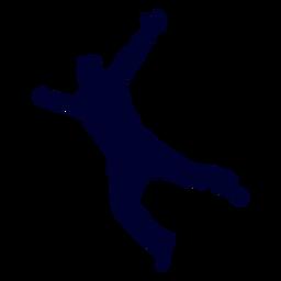 Silhueta de handebol de homem pulando