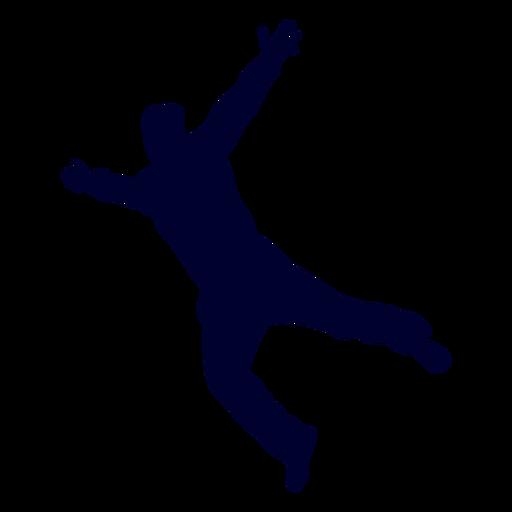 Silueta de balonmano hombre saltando